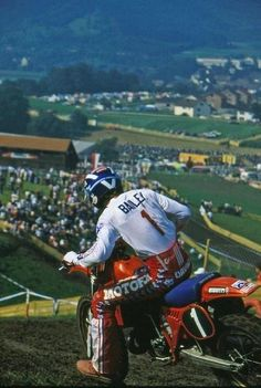 David Bailey, 1982 Motocross des Nations, Gaildorf Germany.