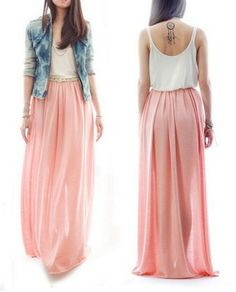 60+ Pretty Maxi Skirts And Dresses Ideas https://femaline.com/2017/05/18/60-pretty-maxi-skirts-and-dresses-ideas/
