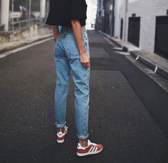 f005d480f Vintage ladies boyfriend jeans for women mom high waisted jeans blue casual  pencil trousers korean streetwear denim pants