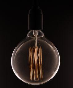 VINTAGE LIGHT BULB | Extra Large Globe Squirrel Cage Filament