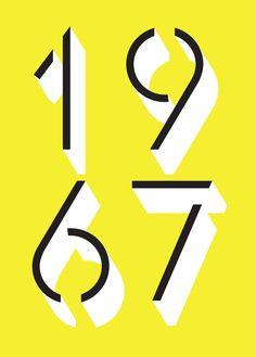 """F37 Glaser Stencil """"1967"""" Type Sample"""