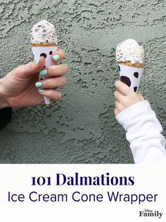 In 101 Dalmatians, Pongo, Perdita and their super-adorable puppies have Roger and Anita seeing spots. Create your own ice cream cone wrapper full of spots for your next weekend treat or a puppy-inspired birthday party! Find the free printable over at Disney Family.