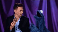 Tom Hiddleston Teaches Cookie Monster About Delayed Gratification