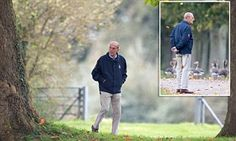 He might be the oldest male member of the Royal Family but the Duke of Edinburgh looked a picture of health as he took a 40 minute walk through Windsor Great Park, Berkshire, yesterday.