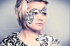 Zebra Face Painting design by Tatts4u, Face painting in Manchester and the North West.
