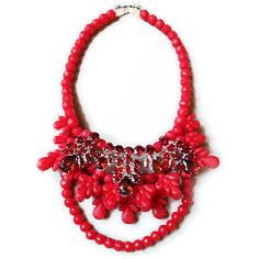 Ek Thongprasert X Natasha Goldenberg Red Viviana Necklace ($665) ❤ liked on Polyvore