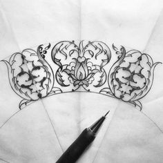 Start to new design ✏ Islamic Art Pattern, Pattern Art, Zentangle Drawings, Art Drawings, Zentangles, Illumination Art, Arabesque Pattern, Persian Motifs, Turkish Art