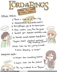 Lord of the Rings Drinking Game!!