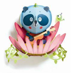 Pierrot et Coco - Panda 3D Wall Art, £18.00 (http://www.pierrotetcoco.com/panda-3d-wall-art/)