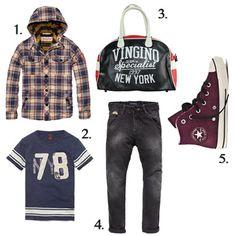 It's time to go back to school ! | Boys 1. http://www.skiks.com/tops-boys/scotch-shrunk-blouse-20516-b/product 2. http://www.skiks.com/alle-nieuwe-items-boys/scotch-shrunk-t-shirt-51505-54/product 3. http://www.skiks.com/accessoires-boys/vingino-bag-valentine-dark-blue/product 4. http://www.skiks.com/bottoms-boys/scotch-shrunk-jeans-85543-90/product 5. http://www.skiks.com/alle-nieuwe-items-boys/converse-shoes-641056c-wijnrood/product