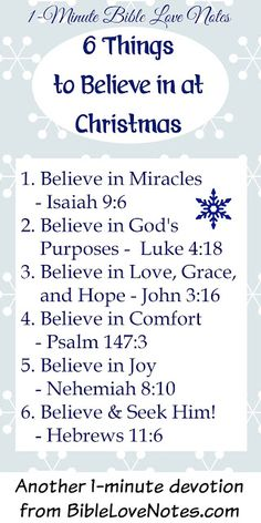Do you believe in these 6 things? They are the beliefs that make Christmas wonderful....Belief in Santa stands in stark contrast to these beliefs that bring the true meaning and spirit of Christmas into our hearts.