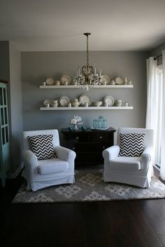 dining rooms, front rooms, color, bay windows, club chairs