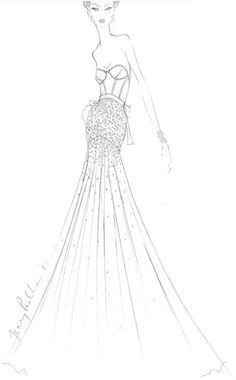 #JennyPackham wedding gown sketch