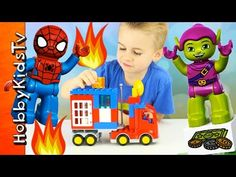Green Goblin STEALS from MONEY TRUCK! Spiderman Battle w/HobbyFrog - Dup... Superhero Shows, Green Goblin, Spiderman, Battle, Trucks, Money, Art, Spider Man, Art Background