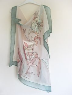 Silk scarf by DEsilk.