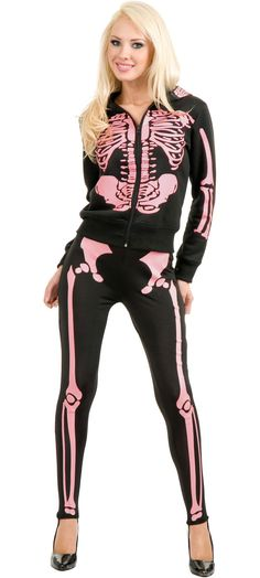 Ladies Skeleton Hoodie Sweats