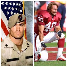 Pat Tillman-Army-Ops Enduring Freedom Afghanistan-gave up NFL career to join Army. KILLED By friendly fire. (NFL)