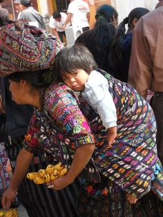 Textiles in Guatemala make me smile. Hard day at the market.