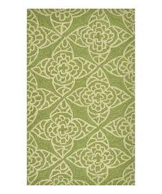 Loving this Green & Ivory Summerton Rug on #zulily! #zulilyfinds