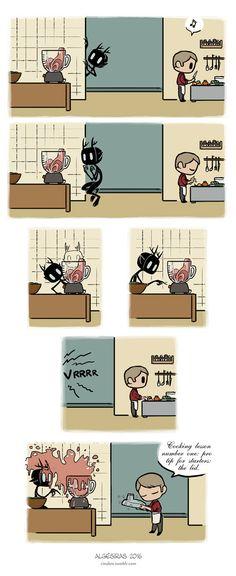 Pet Wendigo strip 26 - Cooking lesson by Algesiras.deviantart.com on @DeviantArt