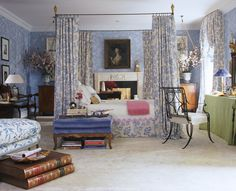 A bedroom inspired by Pauline de Rothschild   Bedroom  TraditionalNeoclassical by Charlotte Moss