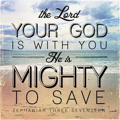 """Zephaniah 3:17 """"...He is mighty to save"""" Stretched Canvas by Pocket Fuel 