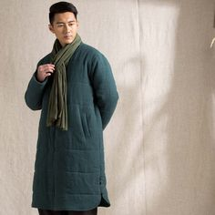 Chinese traditional mens cotton coat meditation by Sunflowercloth