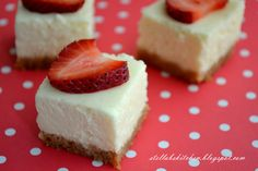 Cheesecake Bites {or Squares}