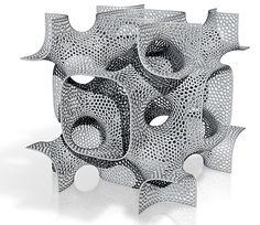 Alan Schoen geometry, printed with 3D Printer
