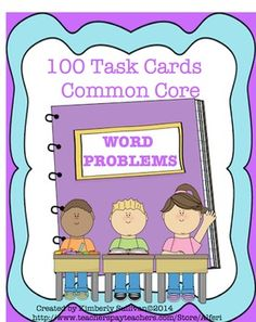 Product 1  100  Word Problem Task Cards:  These 100 task cards are a fun and engaging product for your students  for review!  Addition  Subtraction  Multiplication  Division  Money Included is an answer key and recording sheets!   Product 2 50 Math worksheets which include: Place Value, Exponents, Decimals, Division, Multiplication, Estimating, Rounding, Order of Operations, Math Terms, Adding Money, Equal Coin Amounts, Greater Than and Less Than, Code Fun Page, Math Menu Page, Measurement…