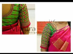 40 check blouse design to inspire you this season - Wedandbeyond Best Blouse Designs, Simple Blouse Designs, Saree Blouse Neck Designs, Stylish Blouse Design, Bridal Blouse Designs, Designer Blouse Patterns, Blouse Desings, Birthday Songs, Simple Embroidery