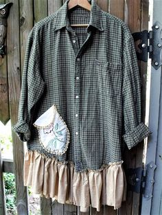 Sheerfab Flannels/ Upcycled Flannel Shirt Tunics/ Men's