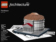 "Pantheon (~14 AD) in Rome, Italy.  LEGO model by Victor Martinez Nouvilas.   (Technically speaking, it isn't ""Neoclassical"" because it is classical Roman Architecture.)"