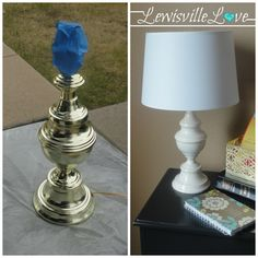 Lewisville Love: How to Paint a Lamp