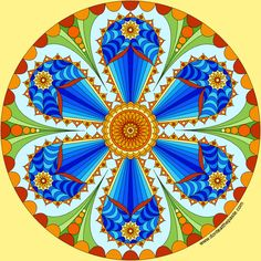 Flower mandala with a blank version to color                                                                                                                                                                                 More