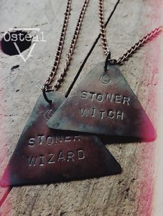 Stoner Witch / Wizard Set one of each pair set couple by Osteal