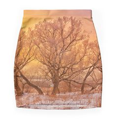 """Frosty sunset"" Pencil Skirts by floraaplus 