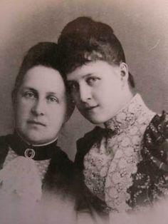 "Mother and daughter ~ Queen Olga of the Hellenes (née the Grand Duchess Olga Konstantinovna Romanova of Russia) and her eldest daughter,the Grand Duchess Alexandra Georgievna Romanova of Russia.  ""AL"""