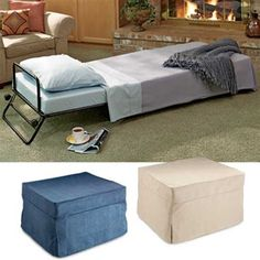 Fold Out Ottoman Guest Bed Away When The Grandkids Or Guests Sleep Over Gold Violin
