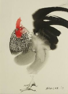 Buy Awaiting, a Ink on Paper by Endre Penovác from Serbia. It portrays: Animal, relevant to: rooster, animal, animals, rural life, home, Year of Rooster, nature The way of watercolor and ink painting is like our world. The predictable, plannable and the unpredictable, unexpected happenings make it complete.