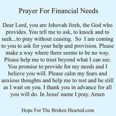 prayer for finances Prayer Times, Prayer Scriptures, Bible Prayers, Faith Prayer, Prayer Quotes, Spiritual Quotes, Bible Verses, Bible Psalms, Night Prayer