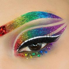 Pin for Later: This Entrancing Eye Tutorial Will Inspire You to Wear - Make Up - Global Websites Eye Makeup Designs, Eye Makeup Art, Eyeshadow Makeup, Yellow Eyeshadow, Colorful Eyeshadow, Crazy Eyeshadow, Eye Art, Drugstore Makeup, Beauty Makeup
