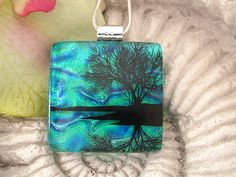 Dichroic Fused Glass Pendant  Dichroic Jewelry    by ccvalenzo, $28.00