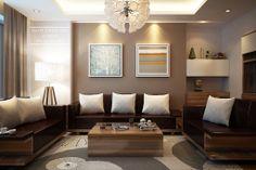 Small Living Room Interior Design | Small Living Room Interior Design - Wooden Sofa - a photo on ...