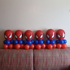 21 Spiderman Birthday Party Ideas - Pretty My Party - Party Ideas Spiderman Balloons Spiderman Balloon, Spiderman Theme Party, Baby Spiderman, Spiderman Birthday Cake, Avengers Birthday, Superhero Birthday Party, 6th Birthday Parties, Birthday Party Decorations, Spider Man Birthday