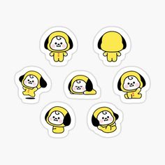 High quality Babies gifts and merchandise. Inspired designs on t-shirts, posters, stickers, home decor, and more by independent artists and designers from around the world. Pop Stickers, Tumblr Stickers, Kawaii Stickers, Printable Stickers, Kpop Diy, Homemade Stickers, Journal Stickers, Bts Drawings, Bts Chibi