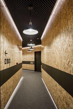 Resultado de imagem para plywood wall design fitness