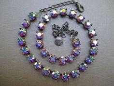 Swarovski crystals necklace/cup chain necklace/Alternative to Sabika #Handmade #Swarovskicrystal