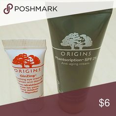 Origins Skincare Minis Anti-aging cream and eye cream, both new. Mini size Sephora Makeup
