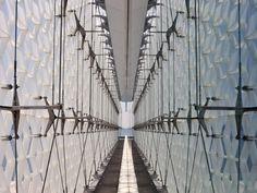 EX ARSENALE LA MADDALENA_House of the Sea « stefano boeri |Skin System Industrial Architecture, Brooklyn Bridge, Cladding, Pavilion, Sea, Facades, Water, Spider, House